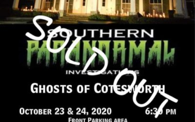 SOLD OUT: THE GHOSTS OF COTESWORTH EVENT